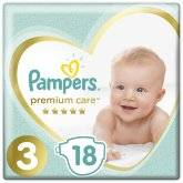 Подгузники Pampers Premium Care Midi 6-10кг 18шт.