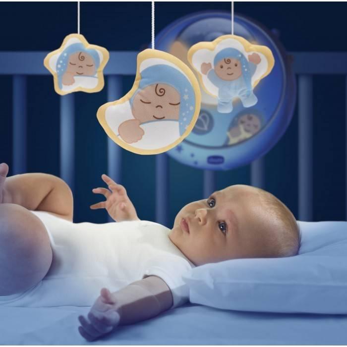 Мобиль на кроватку для новорожденных с проектором
